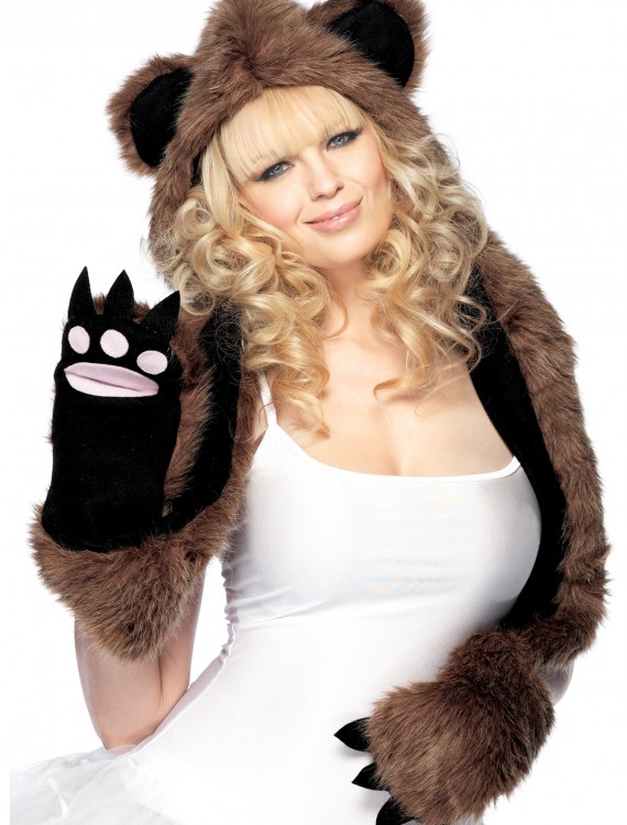 Bear Hood with paws, halloween costume (Bear Hood with paws)