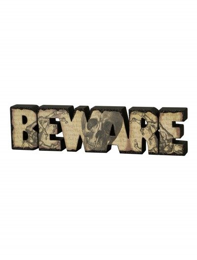 Beware Sign, halloween costume (Beware Sign)