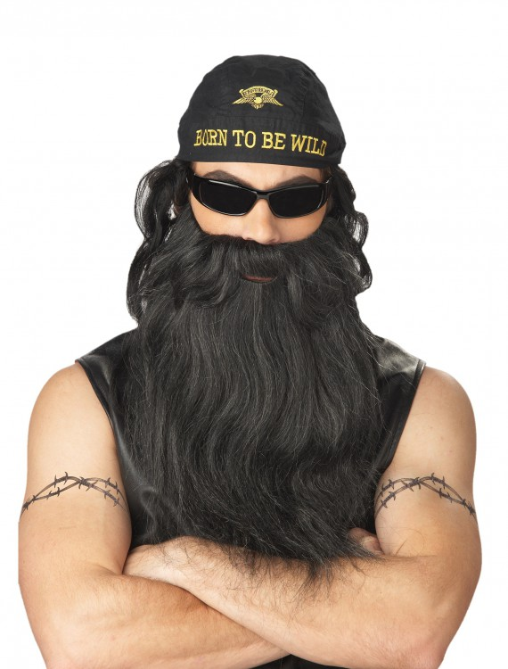 Biker Beard and Moustache, halloween costume (Biker Beard and Moustache)