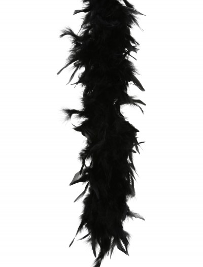 Black 80 Gram Feather Boa, halloween costume (Black 80 Gram Feather Boa)