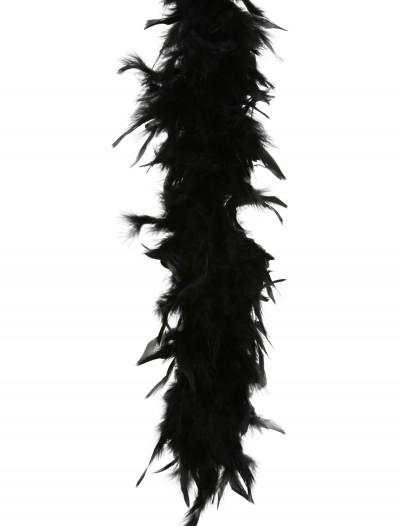 Black 80 Gram Feather Boa, halloween costume (Black 80 Gram Feather Boa)