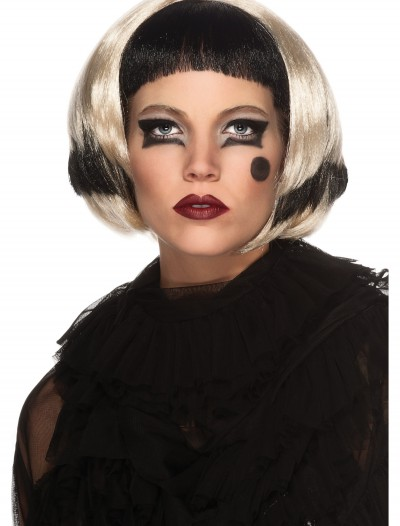 Black and Blonde Lady Gaga Wig, halloween costume (Black and Blonde Lady Gaga Wig)