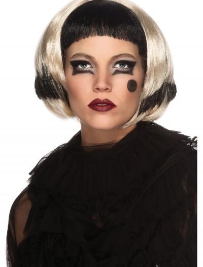 Black and Blonde Lady Gaga Wig, halloween costume (Black and Blonde Lady Gaga Wig)