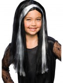 Black and Grey Child Witch Wig, halloween costume (Black and Grey Child Witch Wig)