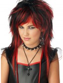 Black and Red Rebel Wig, halloween costume (Black and Red Rebel Wig)