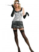 Black and Silver Sequin Flapper Costume, halloween costume (Black and Silver Sequin Flapper Costume)