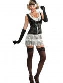 Black and White Sequin Flapper Costume, halloween costume (Black and White Sequin Flapper Costume)