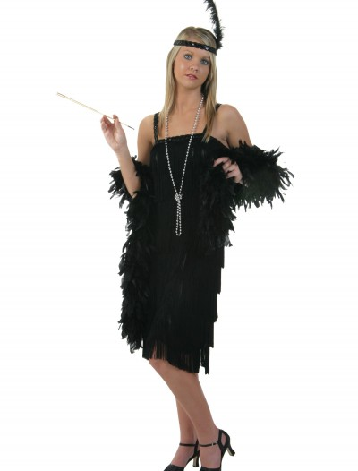 Black Charleston Flapper Dress, halloween costume (Black Charleston Flapper Dress)