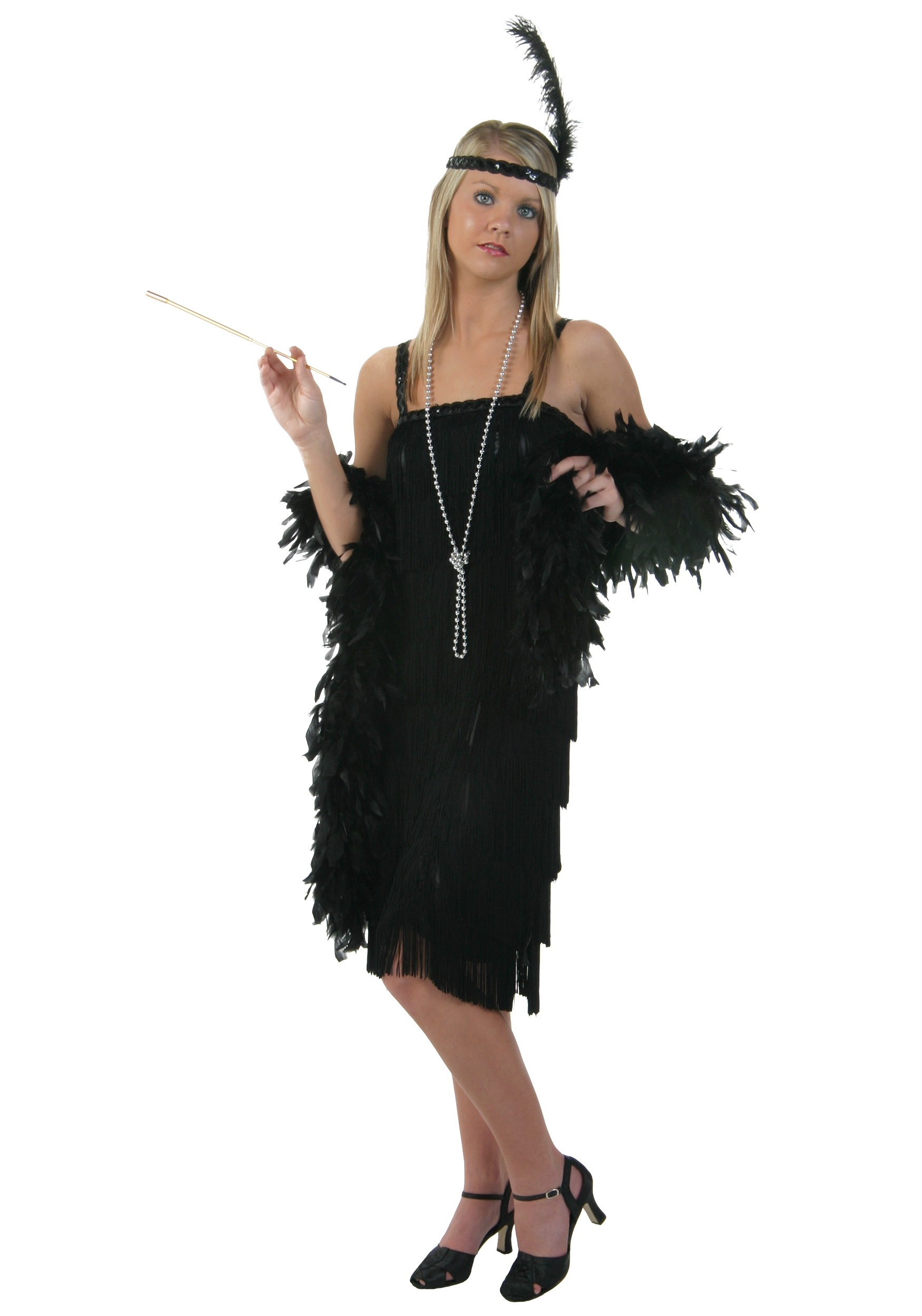 c1da3d64f6fb1 Black Charleston Flapper Dress - Halloween Costumes
