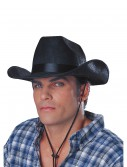 Black Cowboy Rancher Hat, halloween costume (Black Cowboy Rancher Hat)