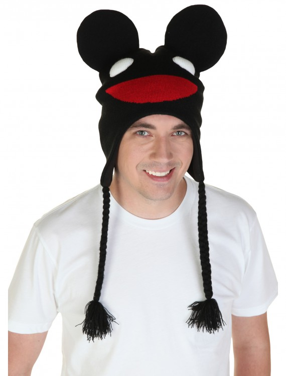Black Deadmau5 Peruvian Hat, halloween costume (Black Deadmau5 Peruvian Hat)