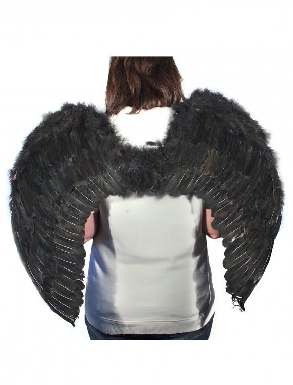Black Feather Angel Wings, halloween costume (Black Feather Angel Wings)