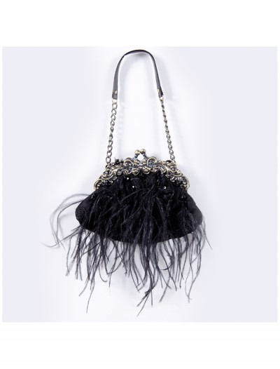 Black Feather Bag with Chain, halloween costume (Black Feather Bag with Chain)