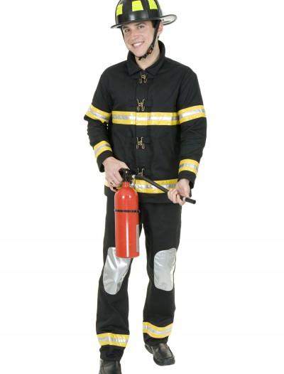 Black Fireman Costume, halloween costume (Black Fireman Costume)