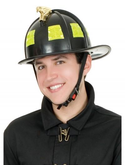 Black Fireman Helmet, halloween costume (Black Fireman Helmet)