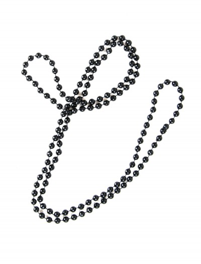 Black Flapper Beads, halloween costume (Black Flapper Beads)