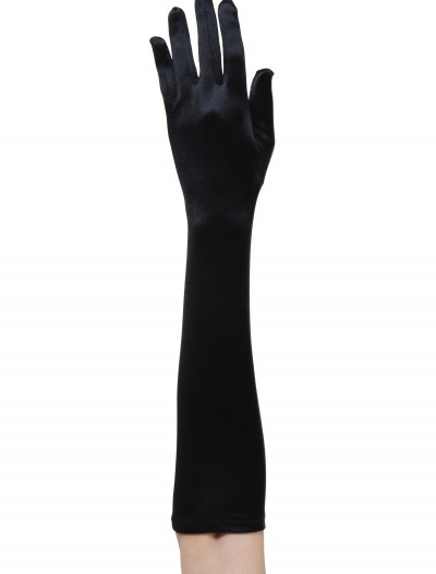 Black Flapper Costume Gloves, halloween costume (Black Flapper Costume Gloves)