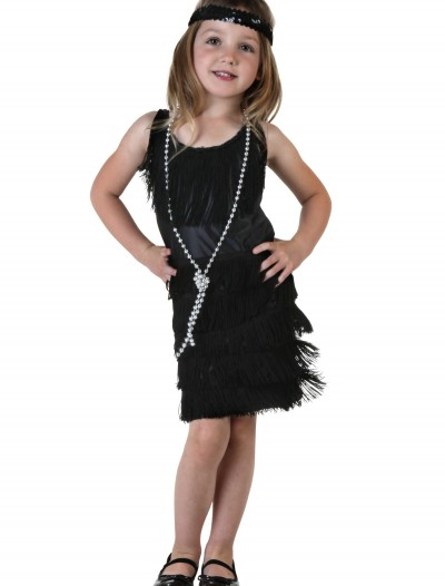 Toddler Black Flapper Dress, halloween costume (Toddler Black Flapper Dress)