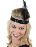 Black Flapper Headband, halloween costume (Black Flapper Headband)