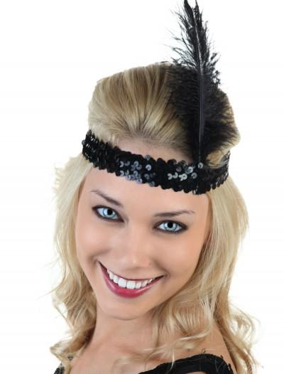 Black Flapper Headband, halloween costume (Black Flapper Headband)