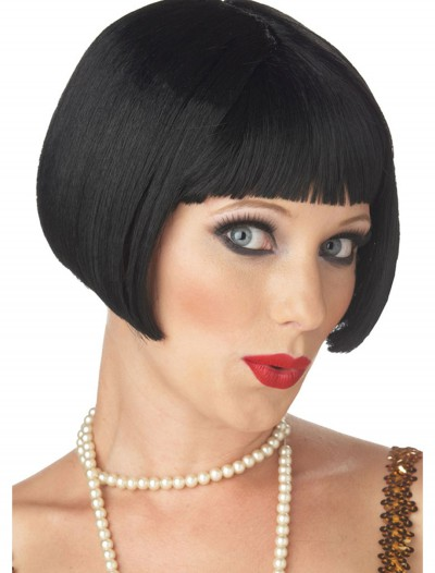 Black Flirty Flapper Wig, halloween costume (Black Flirty Flapper Wig)