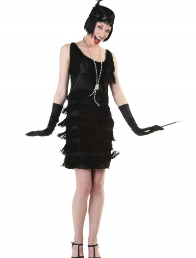 Black Fringe 1920's Flapper Costume, halloween costume (Black Fringe 1920's Flapper Costume)
