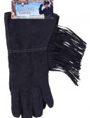 Black Fringe Cowboy Gloves, halloween costume (Black Fringe Cowboy Gloves)