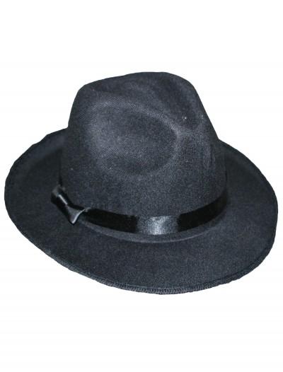 Black Gangster Hat, halloween costume (Black Gangster Hat)