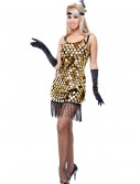 Black/Gold Sequin Flapper Costume, halloween costume (Black/Gold Sequin Flapper Costume)