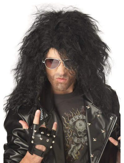 Black Heavy Metal Wig, halloween costume (Black Heavy Metal Wig)
