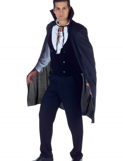Black High Collar Cape, halloween costume (Black High Collar Cape)