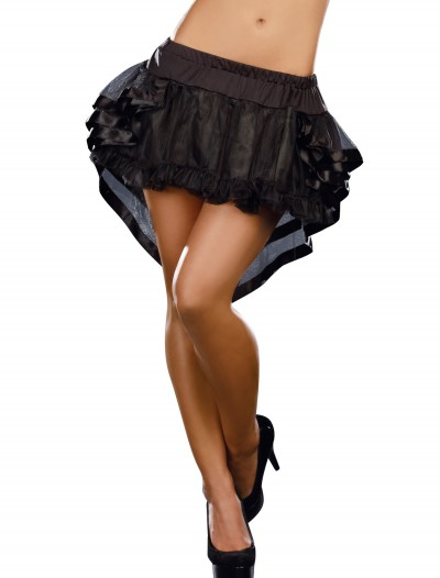 Black High-Low Petticoat, halloween costume (Black High-Low Petticoat)