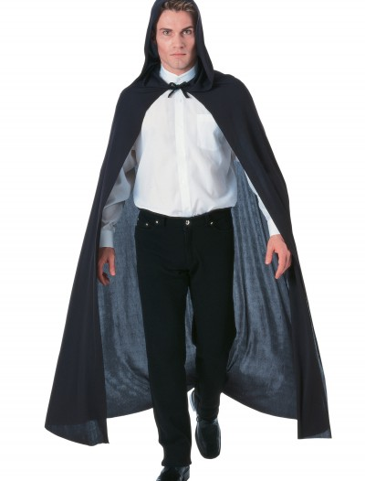 Black Hooded Cape, halloween costume (Black Hooded Cape)