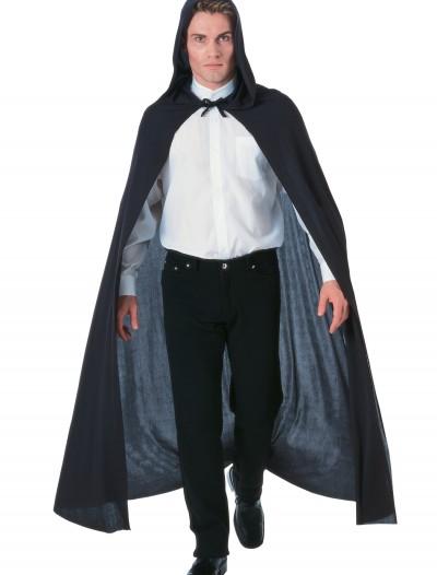 Black Hooded Cape, halloween costume (Black Hooded Cape)