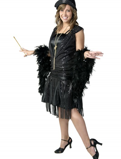 Black Jazz Flapper Costume, halloween costume (Black Jazz Flapper Costume)