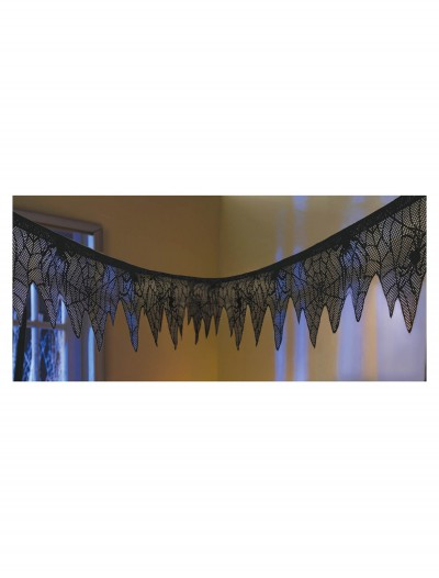 Black Lace Mesh Garland, halloween costume (Black Lace Mesh Garland)