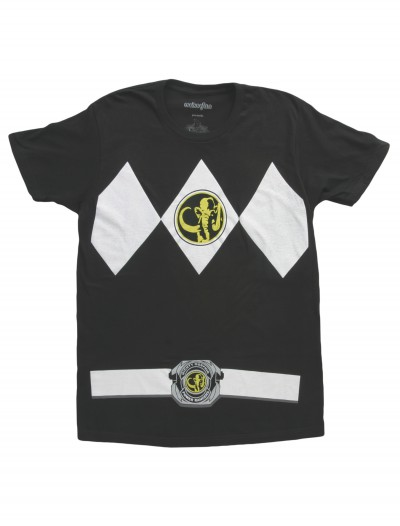 Black Power Ranger T-Shirt, halloween costume (Black Power Ranger T-Shirt)