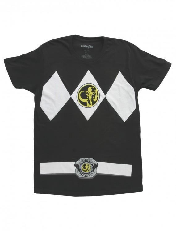 Black Power Ranger T-Shirt, halloween costume (Black Power Ranger T-Shirt)