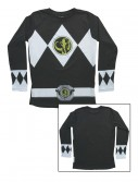 Black Power Rangers Long Sleeve Costume Shirt, halloween costume (Black Power Rangers Long Sleeve Costume Shirt)