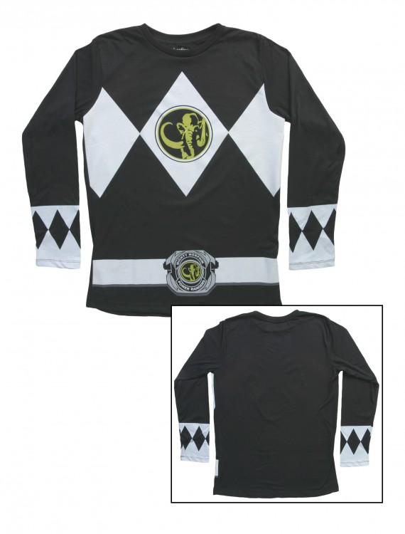 Black Power Rangers Long Sleeve Costume Shirt, halloween costume (Black Power Rangers Long Sleeve Costume Shirt)