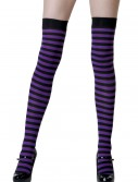 Black / Purple Striped Stockings, halloween costume (Black / Purple Striped Stockings)