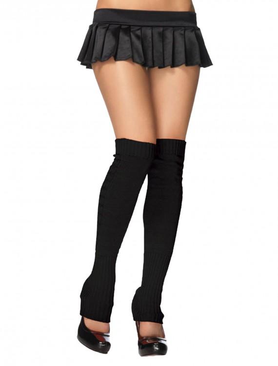 Black Ribbed Leg Warmers, halloween costume (Black Ribbed Leg Warmers)