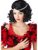 Black Ritzy Wig w/Headband, halloween costume (Black Ritzy Wig w/Headband)