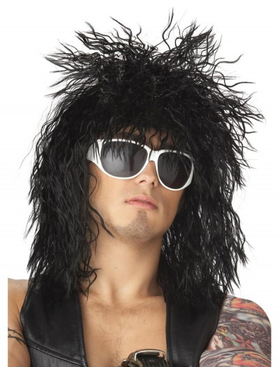 Black Rocker Dude Wig, halloween costume (Black Rocker Dude Wig)