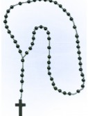 Black Rosary Necklace, halloween costume (Black Rosary Necklace)