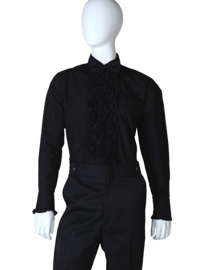 Black Ruffled Tuxedo Shirt, halloween costume (Black Ruffled Tuxedo Shirt)