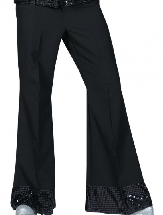 Black Sequin Cuff Disco Pants, halloween costume (Black Sequin Cuff Disco Pants)