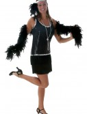 Black Sequin & Fringe Plus Size Flapper, halloween costume (Black Sequin & Fringe Plus Size Flapper)