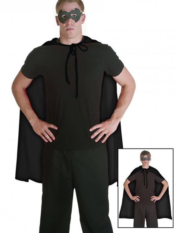 Black Superhero Cape, halloween costume (Black Superhero Cape)