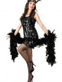 Black Tear Drop Flapper Costume, halloween costume (Black Tear Drop Flapper Costume)